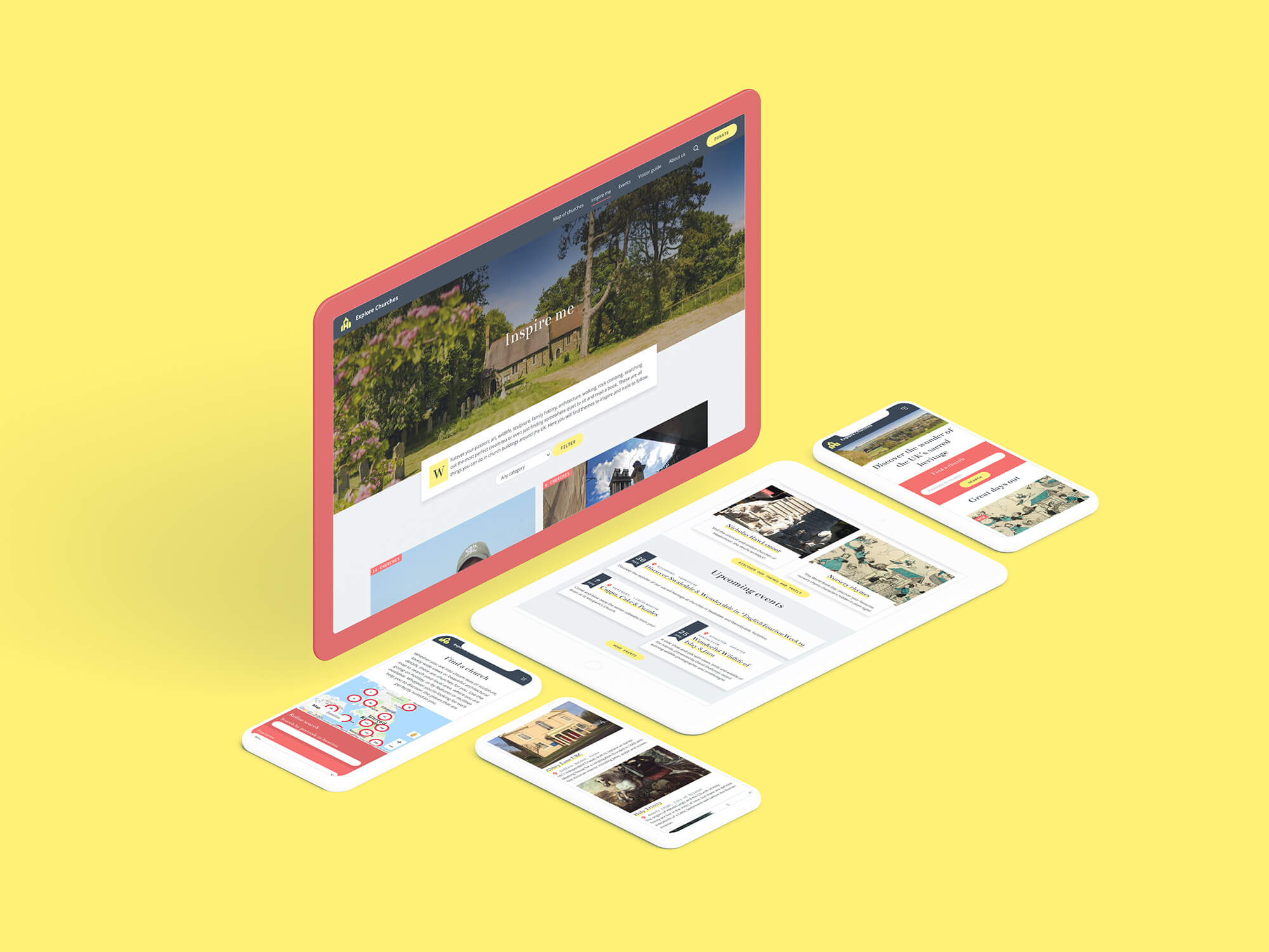 Explore churches website design