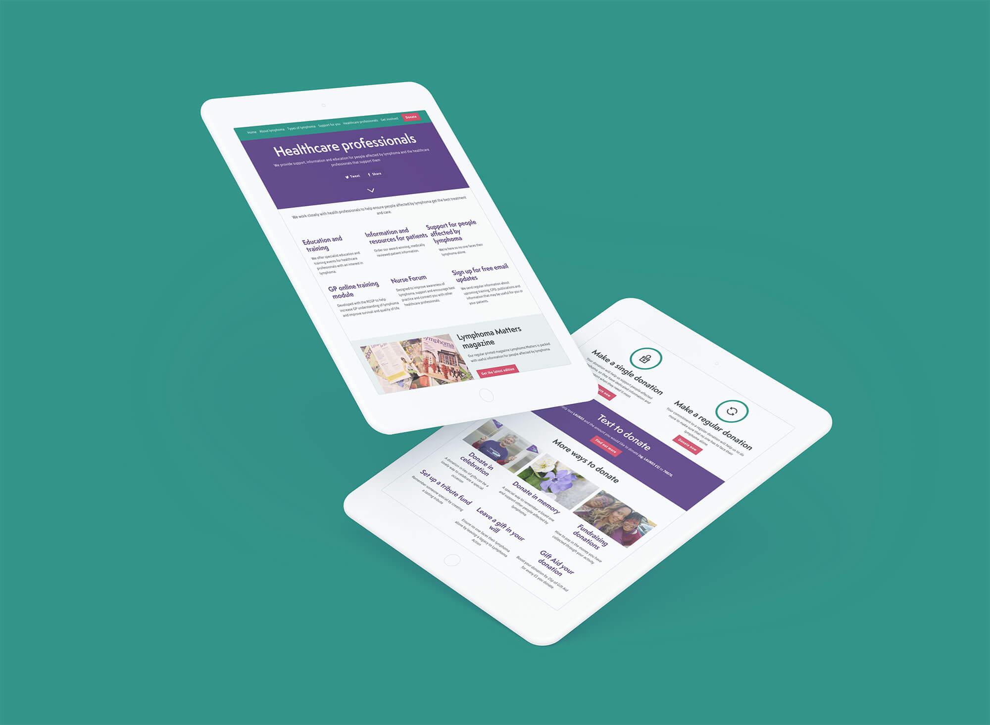 Lymphoma action website design