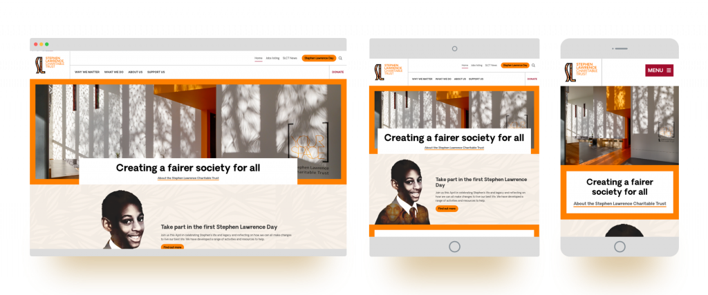 The new Stephen Lawrence Charitable Trust website