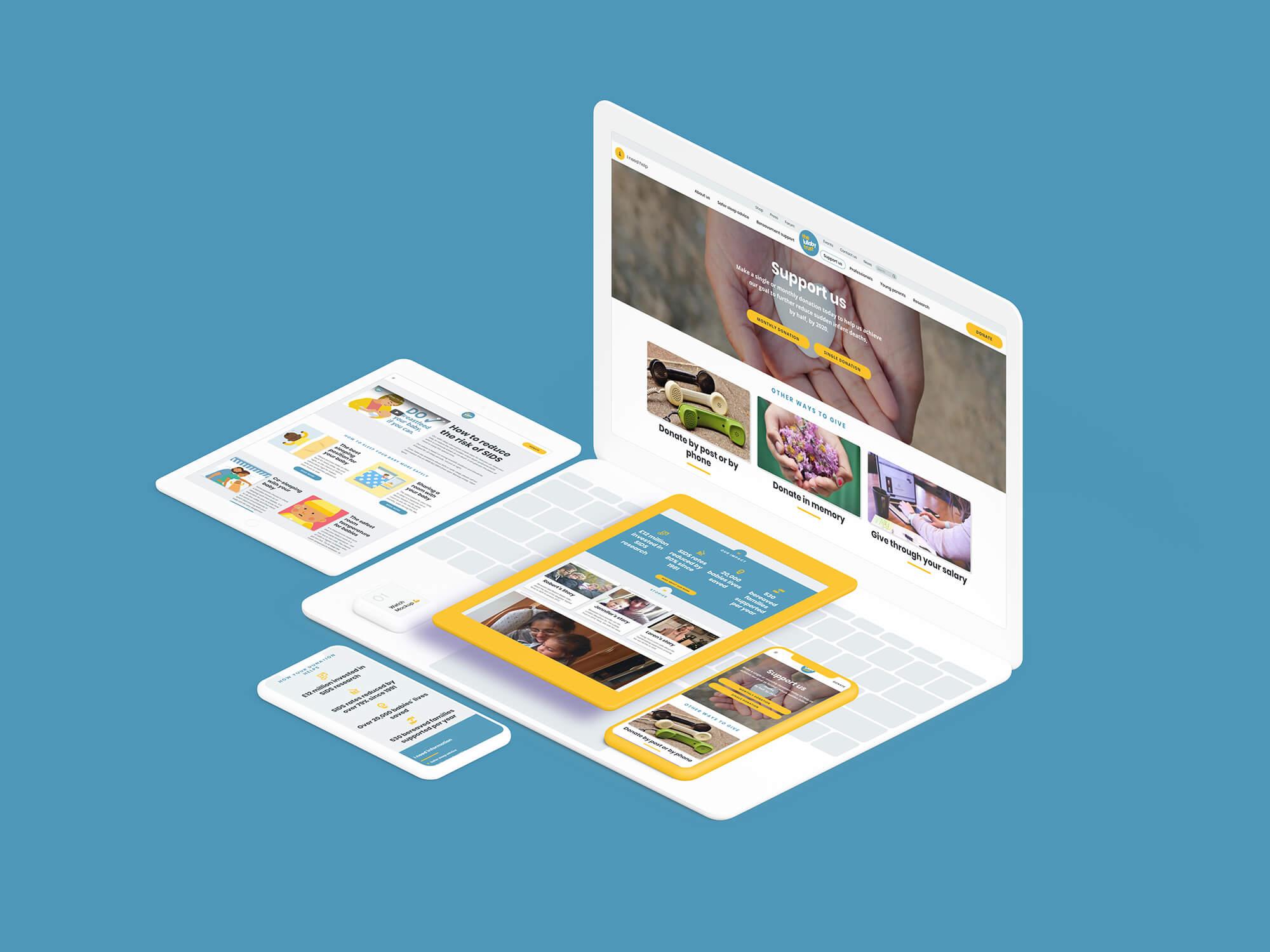 Lullaby trust website design