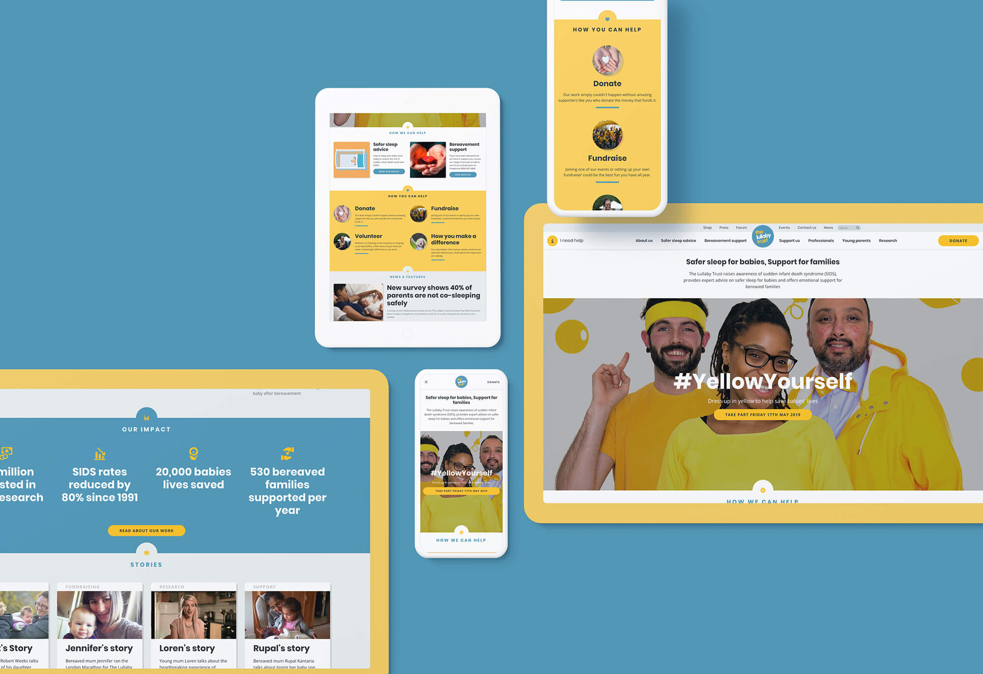 Lullaby trust website design