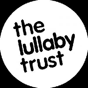Lullaby Trust white logo