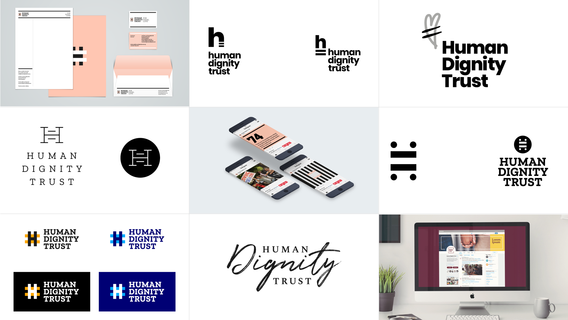Human Dignity Trust mood boards and logo explorations