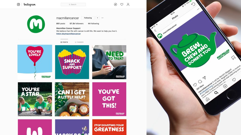 Fat Beehive, Macmillan Cancer Support brand assets