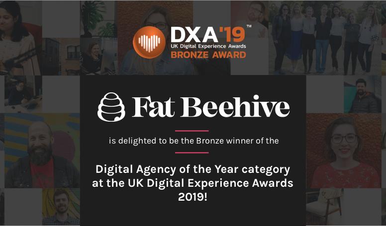 UK Digital experience awards 2019 Bronze award