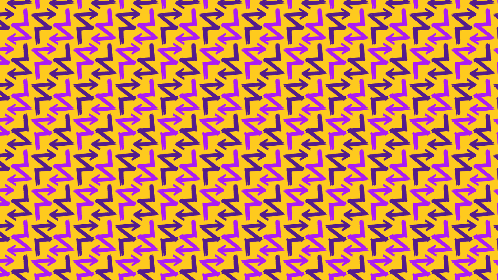 FORWARD vibrant yellow and purple pattern sample
