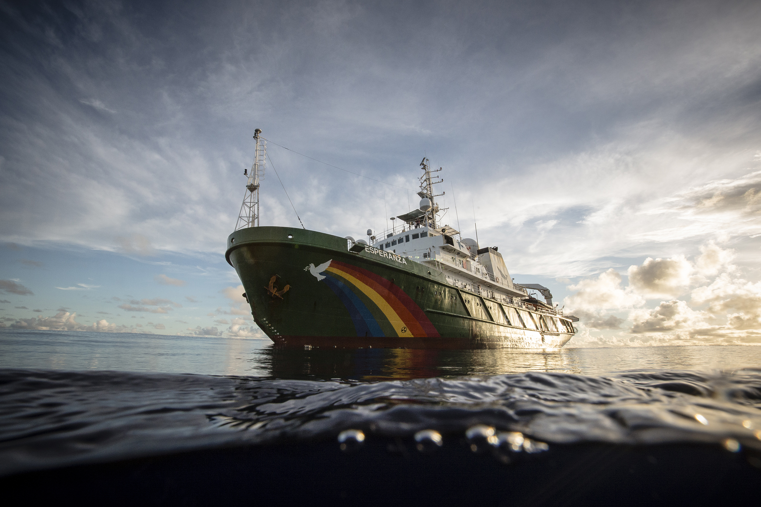 The Greenpeace ship Esperanza continues on an expedition in the Indian Ocean to peacefully tackle unsustainable fishing.