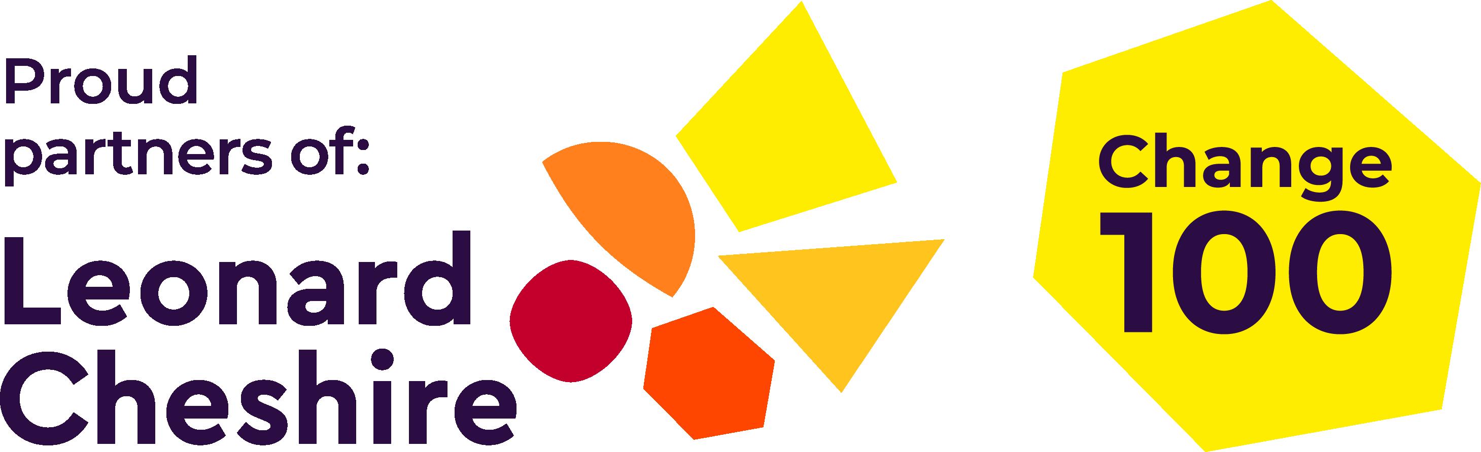 Leonard Cheshire Change 100 logo