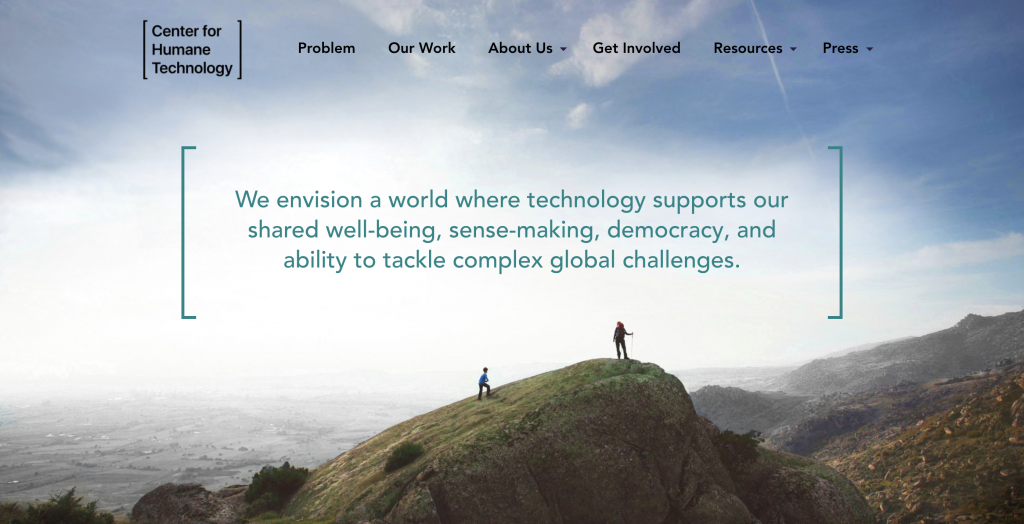 The Centre for Humane Technology website