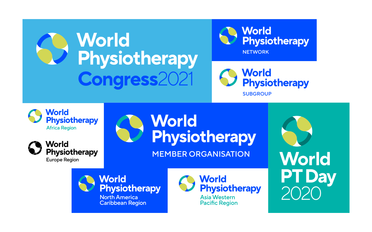 The World Physiotherapy sub-brand logos