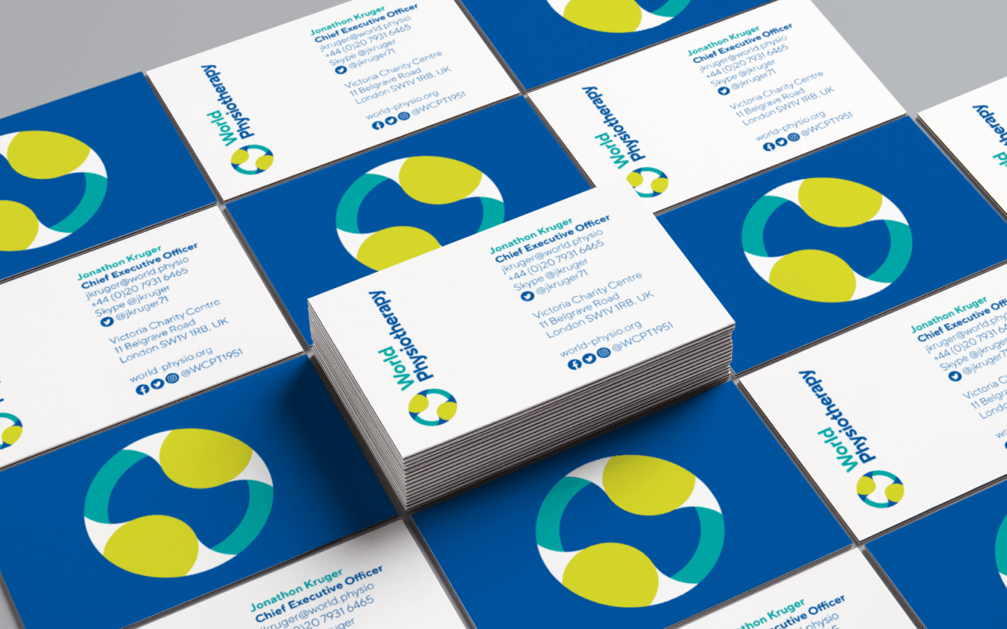 World Physiotherapy business cards