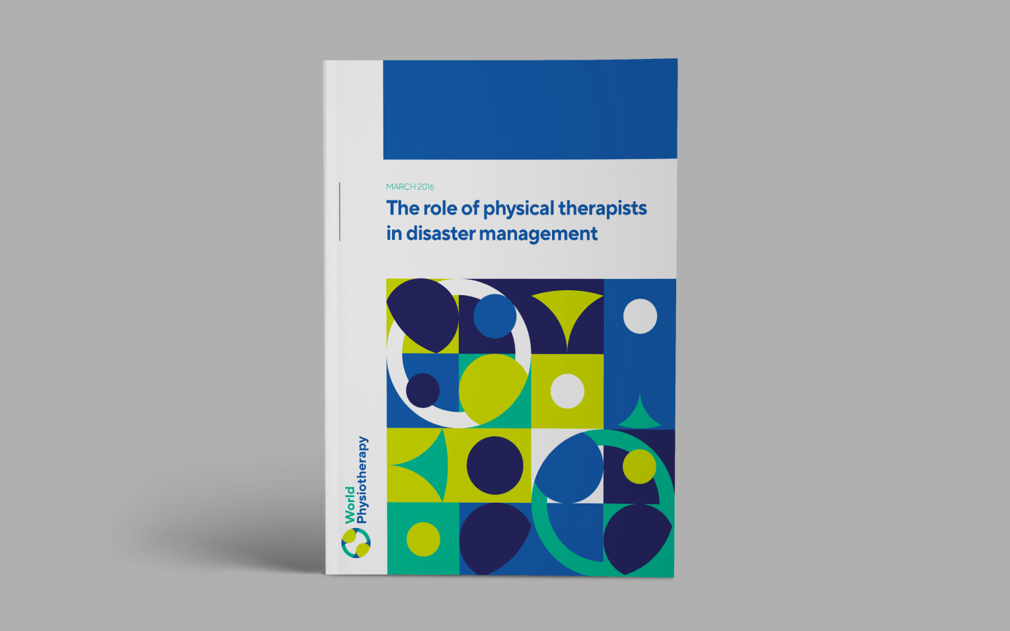 The design of a World Physiotherapy report cover