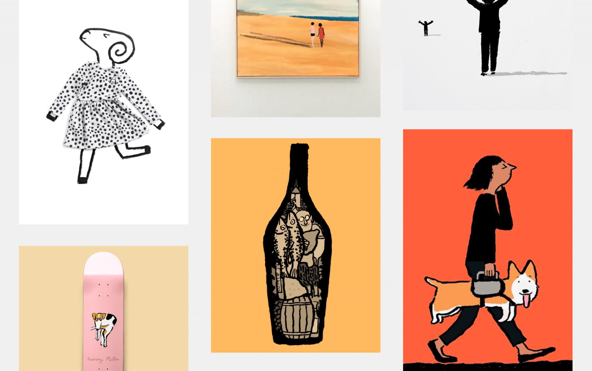 A selection of work by illustrator Jean Jullien