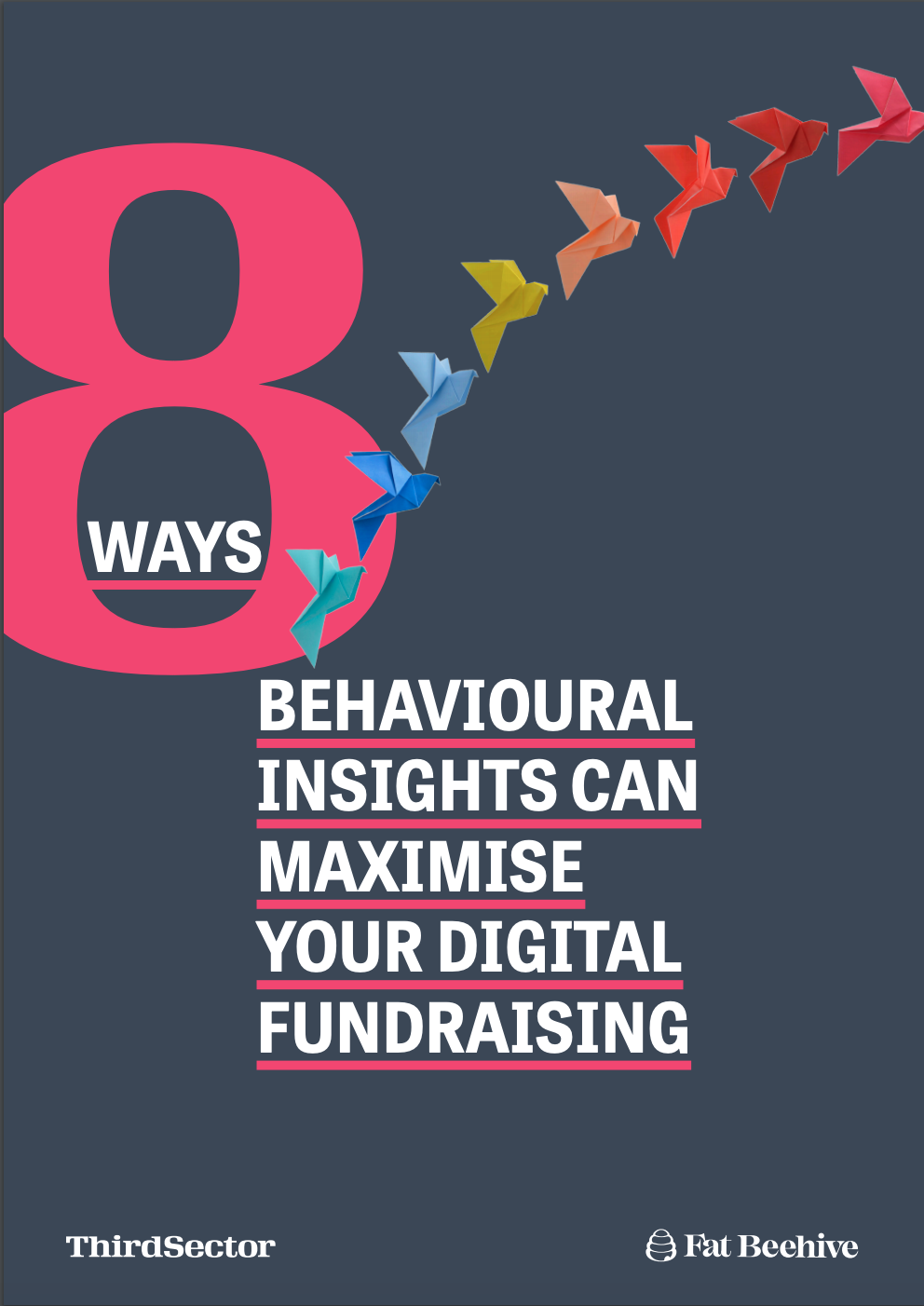 The cover of the '8 ways behavioural science can maximise your digital fundraising' report