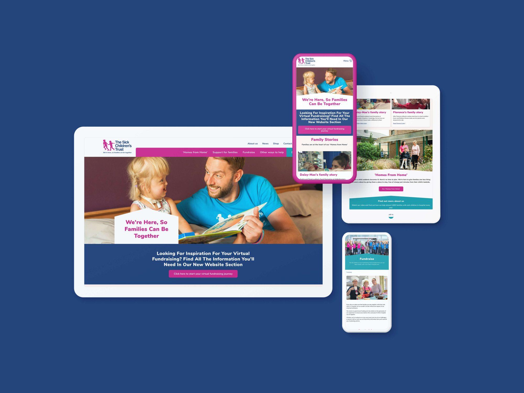 Design of The Sick Children's Trust website