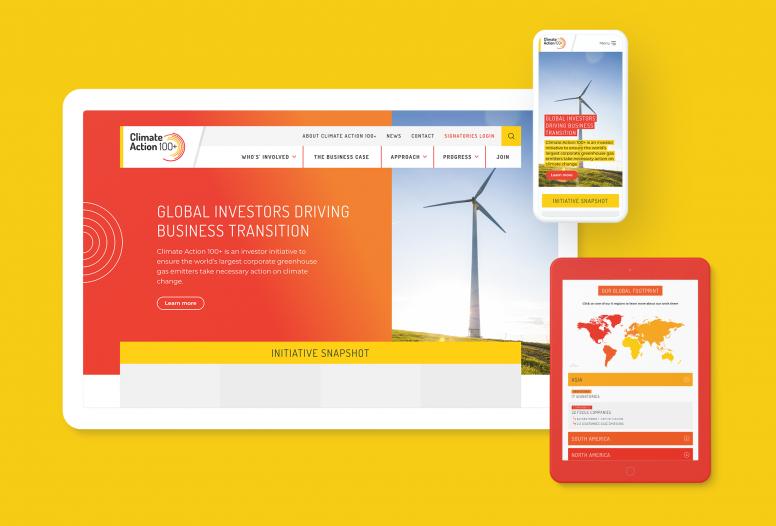 Climate Action 100+ website design
