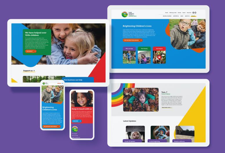 Leeds Children's Charity new website design