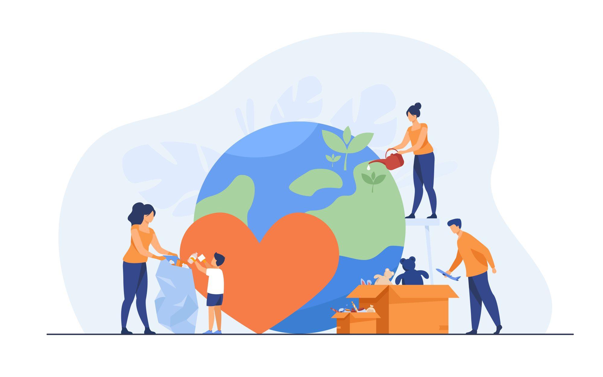 Volunteering globe