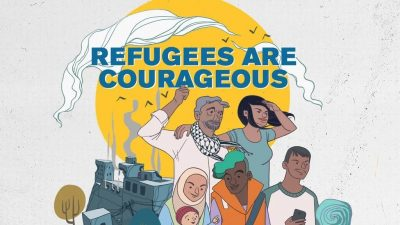 refugees are courageous