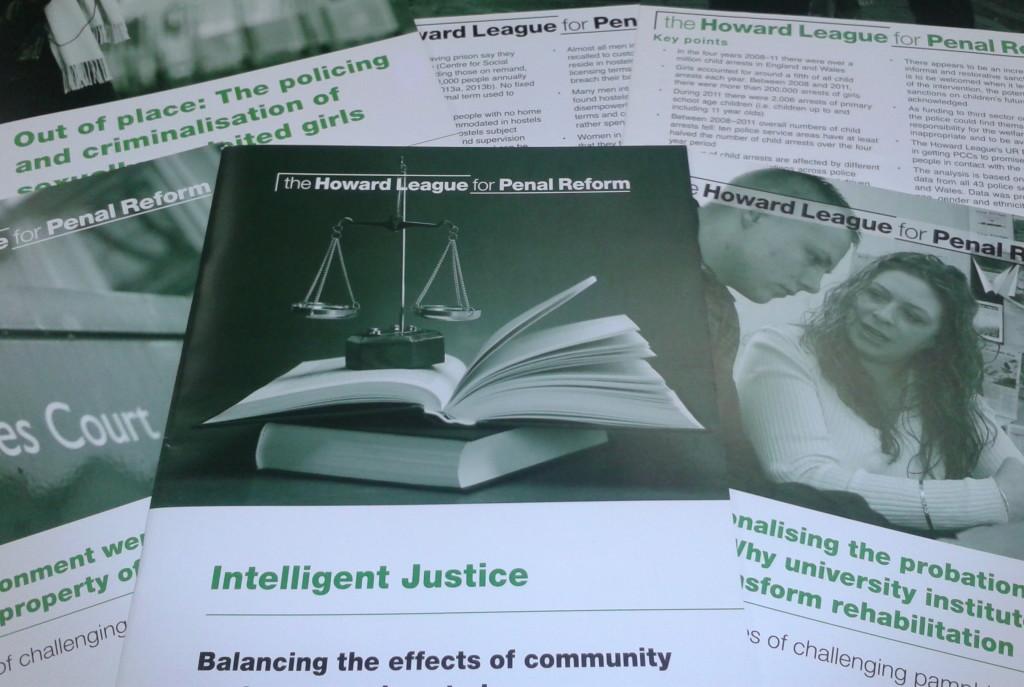 Arrangement of Howard League printed publications