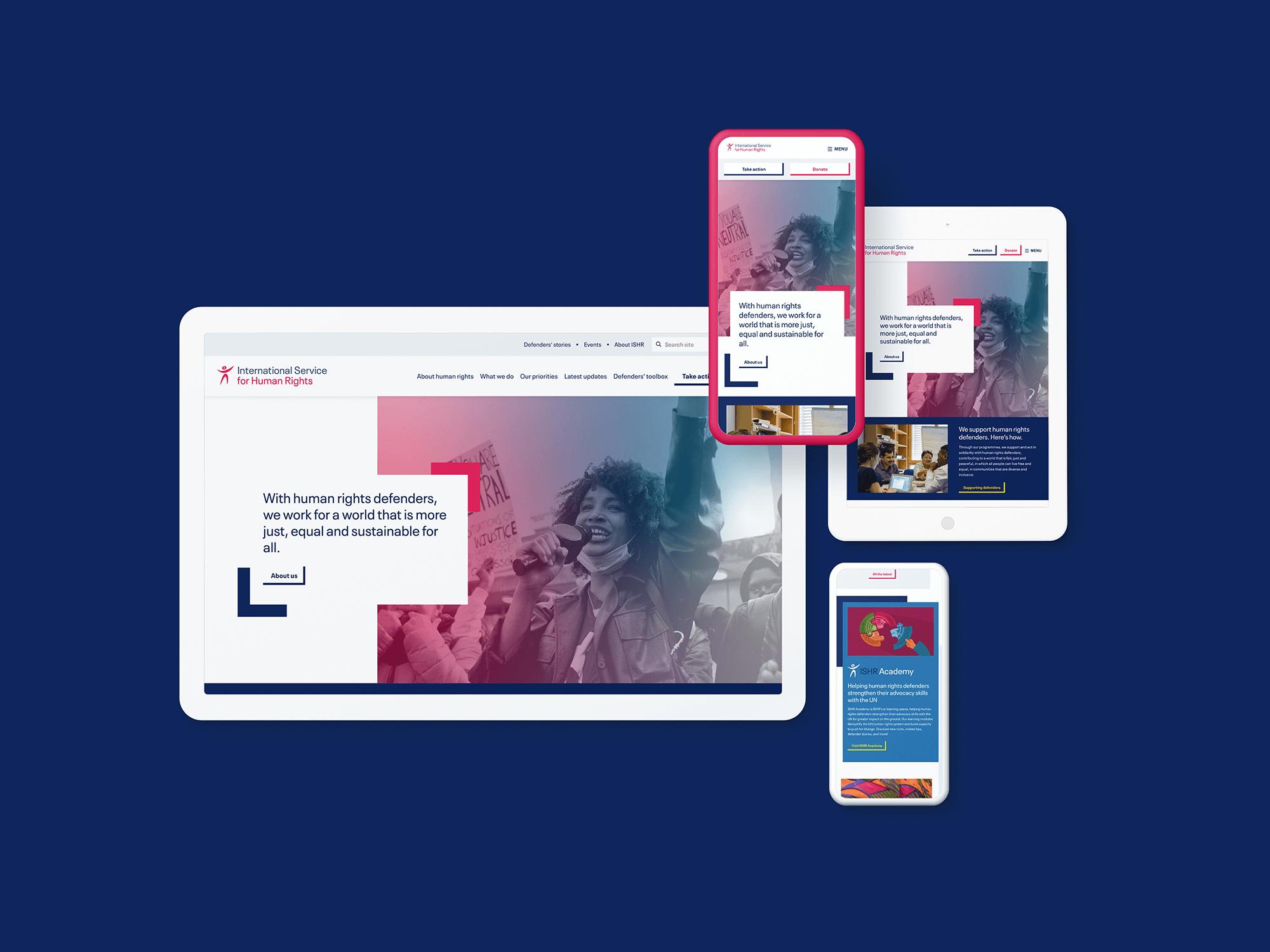 ISHR website displayed on multiple screens