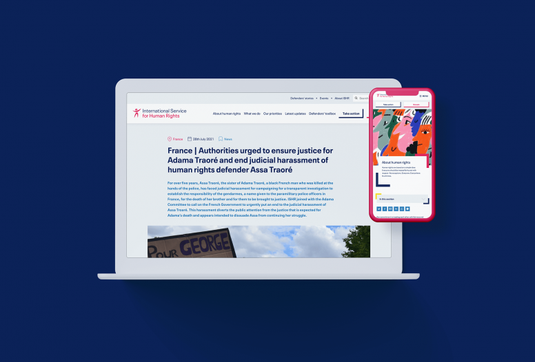 ISHR new website on desktop and phone