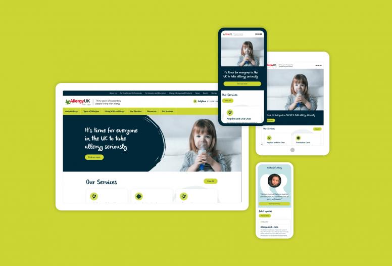 The new Allergy UK website